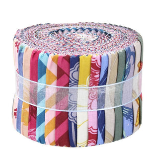 Leutenegger Fabric Jelly Roll - Choice of Romantic Rebel or Daydreaming Themed Fabric