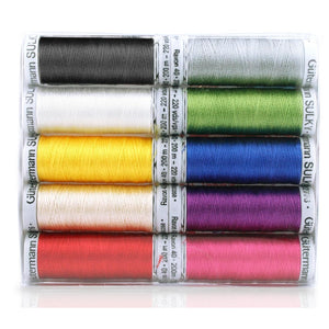 Gutermann Sulky Threads Rayon 40 - 200m Reels 10 mixed colours - buy from J G Creations (Australia)