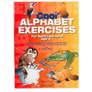 Cool Alphabet Exercises For Early Learners Age 3+ - buy from J G Creations (Australia)