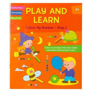 Play and Learn Colour by Number- Step 1 or Step 2 - buy from J G Creations (Australia)