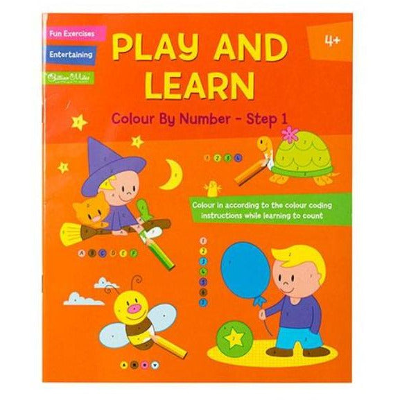 Play and Learn Colour by Number- Step 1 or Step 2