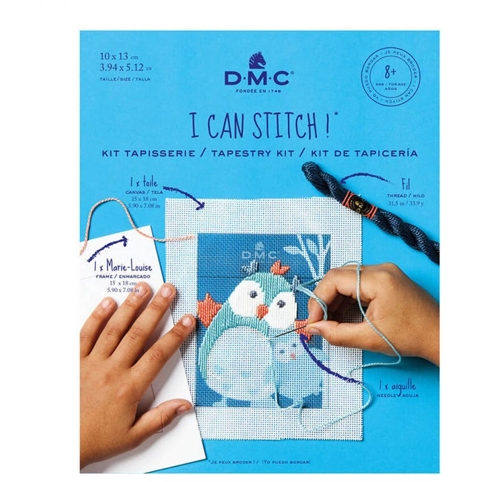 I Can Stitch! Tapestry Kit - D.M.C Hedgehog or Owl Kit