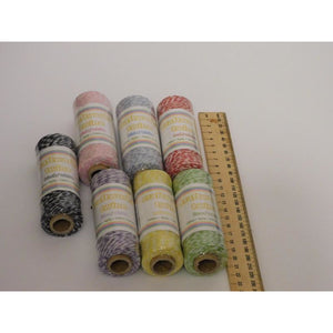 Craftworkz Twine - Range of Colours 100% Cotton 4ply - buy from J G Creations (Australia)