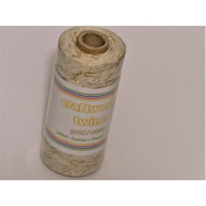 Craftworkz Twine - Range of Colours - Cotton & Plastic 4ply