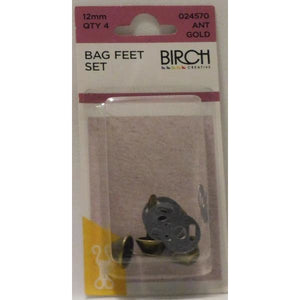 Metal Bag Feet From Birch in Packs of 4 - buy from J G Creations (Australia)