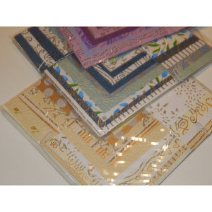 Mini Paper Pack with Co-ordinating Embs (8x8inch) - buy from J G Creations (Australia)