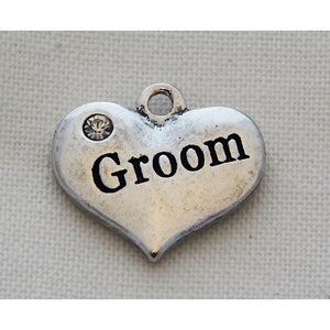 Charms Silver Toned Hearts, Ballet, Bride, Groom, Mixed Heart Designs - buy from J G Creations (Australia)