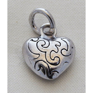 Charms Silver Toned Hearts - buy from J G Creations (Australia)