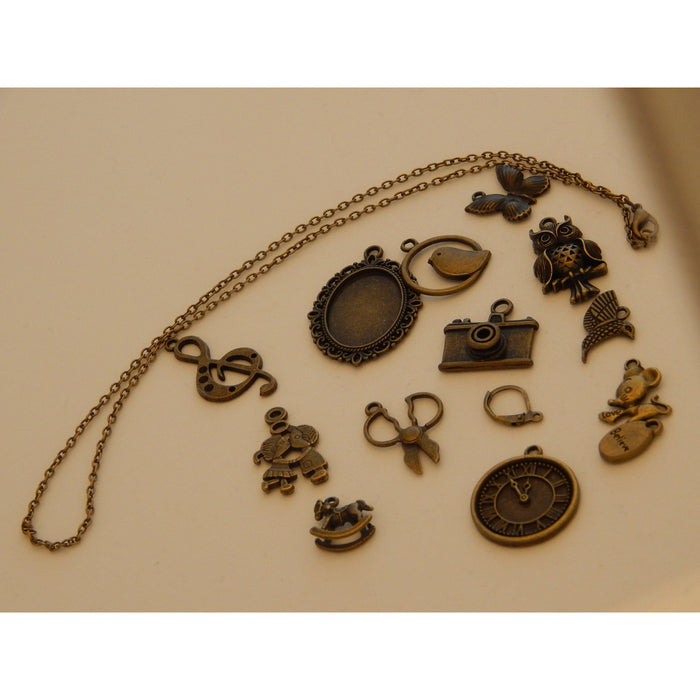Bronze Coloured/Brass Charms and Findings Mixed Designs