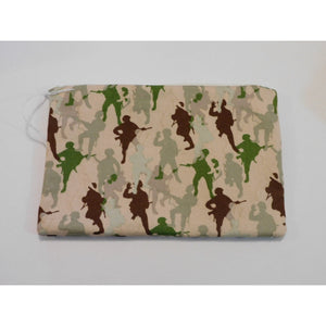 Soldier Print Pencil Case (Handmade)