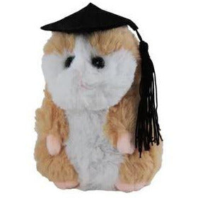 Graduation Hamster - Choice of Colours Brown or Beige 12cm - buy from J G Creations (Australia)