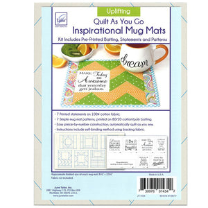 JT Quilt As You Go Inspirational Mug Mats - Choice of 3 Designs - buy from J G Creations (Australia)