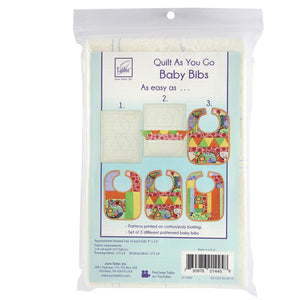 Quilt As You Go Baby Bibs - Pattern Printed on Batting