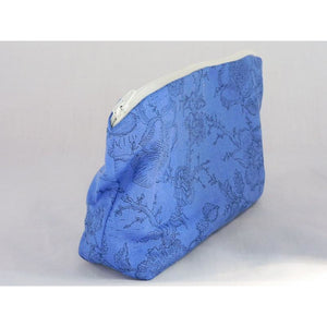 Blue Floral Garden Theme Pouch - Handmade - buy from J G Creations (Australia)