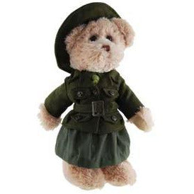 Female Army Bear - Nancy Height approx 32cm - buy from J G Creations (Australia)