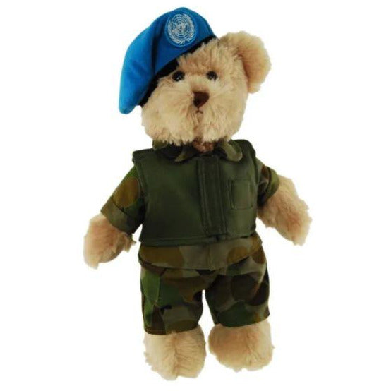 Peacekeeper Army Bear 30cm Carmel - Tic Toc Teddies by Elka