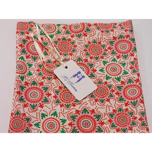Colourful Snowflake Print Gift Bags in a Range of Sizes With White Ribbon