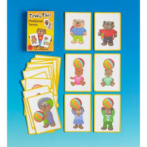 Teddy Pairs Positional Terms Snap Game - buy from J G Creations (Australia)