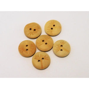 Tree Print Round Wooden Buttons (Medium) In Packs of 6