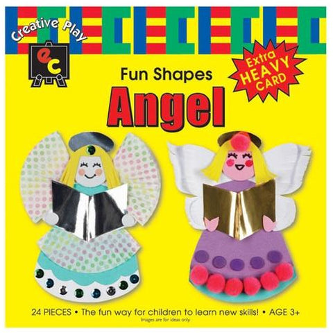 Fun Shapes Christmas Angel,  Bell, Christmas Tree, Snowman or Stocking in Packs of 24