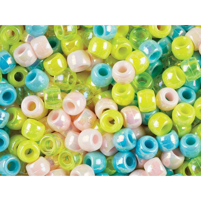Pony Beads Pearl Colours