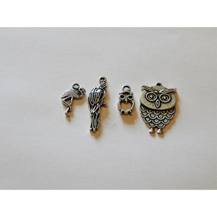 Charms - Silver Toned Bird Themes