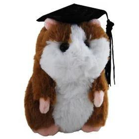 Graduation Hamster - Choice of Colours Brown or Beige 12cm