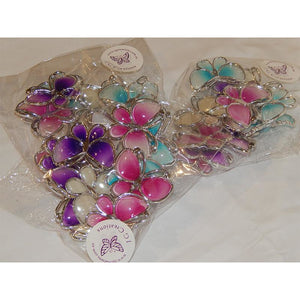 Pack of 6 Large Butterfly Embellishments in Choice of Colours for Craft Projects