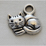 Charms - Silver Toned Cat Theme - buy from J G Creations (Australia)