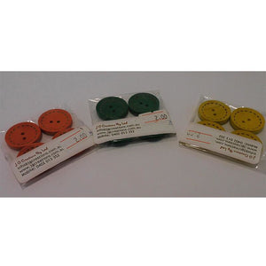 Small Buttons Coloured - Dashed Edges