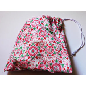 Colourful Snowflake Print Gift Bags in a Range of Sizes (Corded)