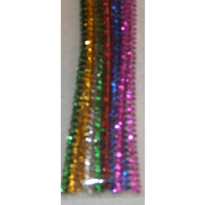 Craft - Metallic Chenille Sticks - 12 Pieces - buy from J G Creations (Australia)