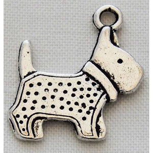 Charms - Silver Toned Dog Theme - Scotty Dogs Pack of 4 - buy from J G Creations (Australia)