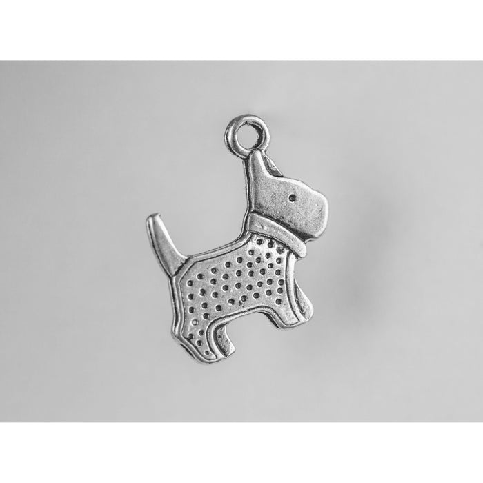 Charms - Silver Toned Dog Theme - Scotty Dogs Pack of 4
