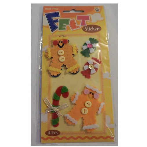 Christmas Themed - Acid Free Felt Sticker Pack - buy from J G Creations (Australia)