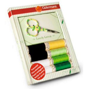 Gutermann Thread Set with Scissors in a choice of Colours Pink, Green or Blue - buy from J G Creations (Australia)