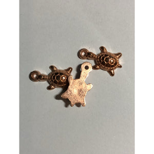 Bronze Tone Turtle Charm Pack of 6 (Approx 2cm)