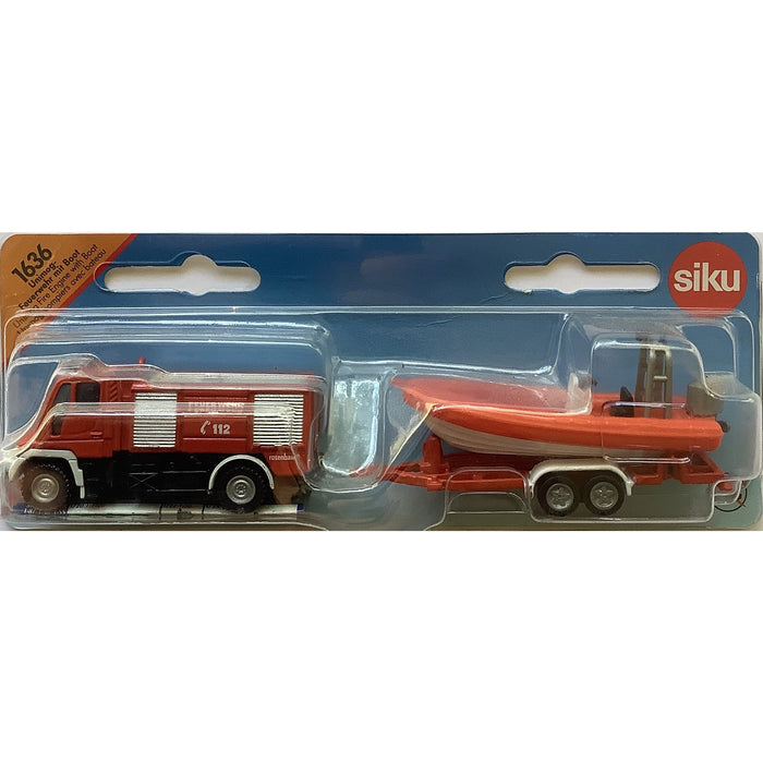 Fire Engine with Boat Siku 1636