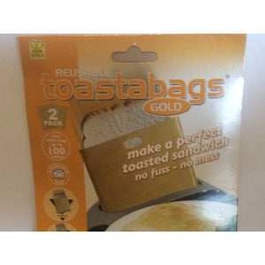 Toastabag Gold - (Reusable 100 Times) Set of 2 - buy from J G Creations (Australia)