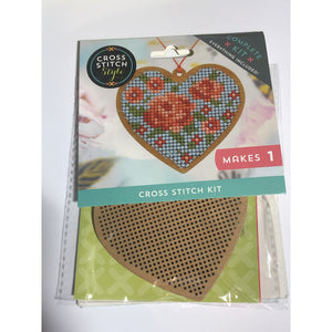 Cross Stitch Style - Make Your Own Wooden Heart Cross Stitch