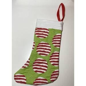 Handmade Channeled Quilting Stitched Christmas Stocking - LIMITED EDITION