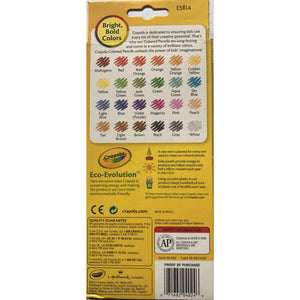 Crayola 24 pk Coloured Pencils - Non Toxic