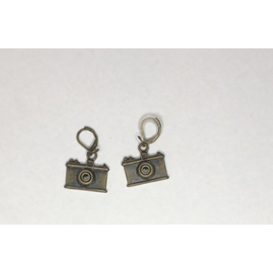Bronze Camera Earrings