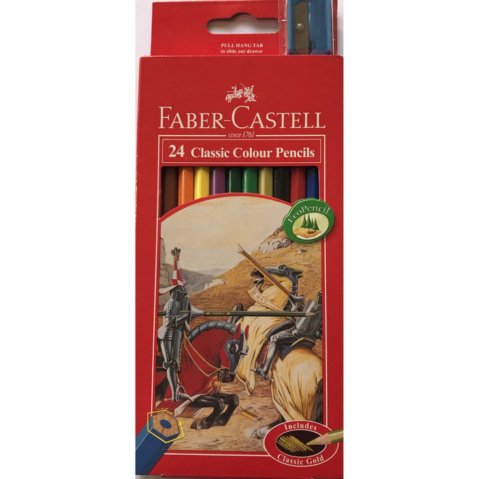 Faber Castell Colour Pencils 24pk with Sharpener