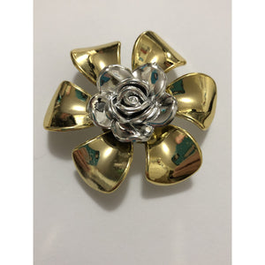Flower Embellishments for Beading and Craft Projects - Gold & Silver Colour