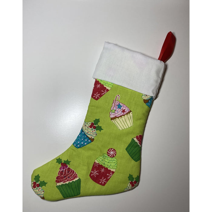Handmade Quilted Christmas Stockings (Single Fabric)