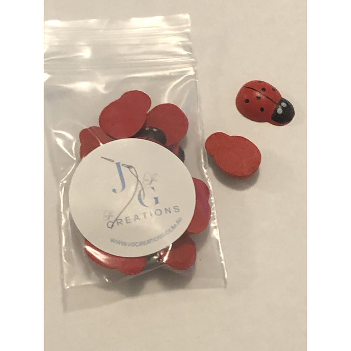 Wooden Ladybirds in Packs of 12 (Red Lady Bugs)