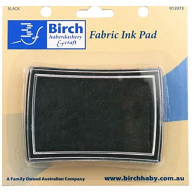 Birch Black Fabric Ink Pad