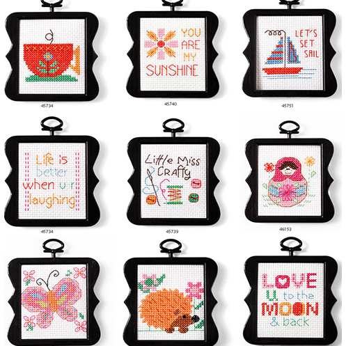 Bucilla Complete Mini Cross Stitch Kits