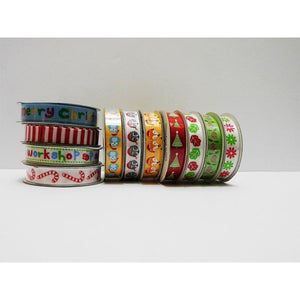 Assorted Value Packs of Novelty Christmas Ribbons from Sugar & Spice
